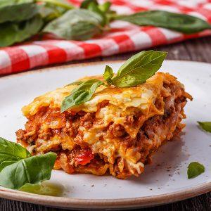 Beef lasagne