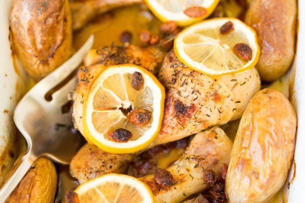 Lemon glazed chicken, ready=-made