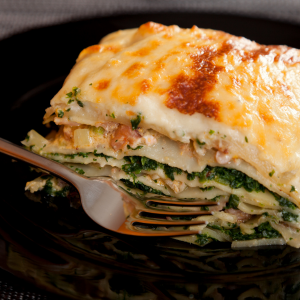 spinach feta lasagne