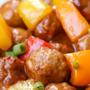 Sweet and Sour Pork Meatballs – Family Meal