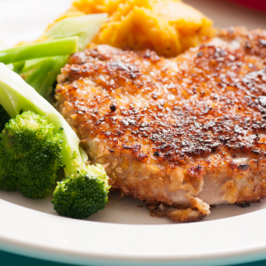 Crumbed pork chops