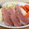 corned beef, braised cabbage