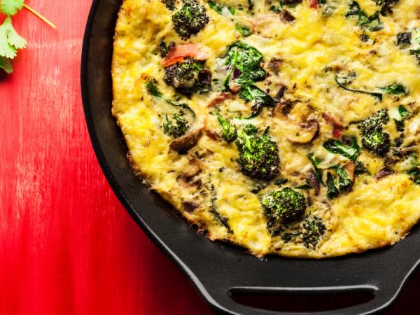 Mushrom and broccoli bake